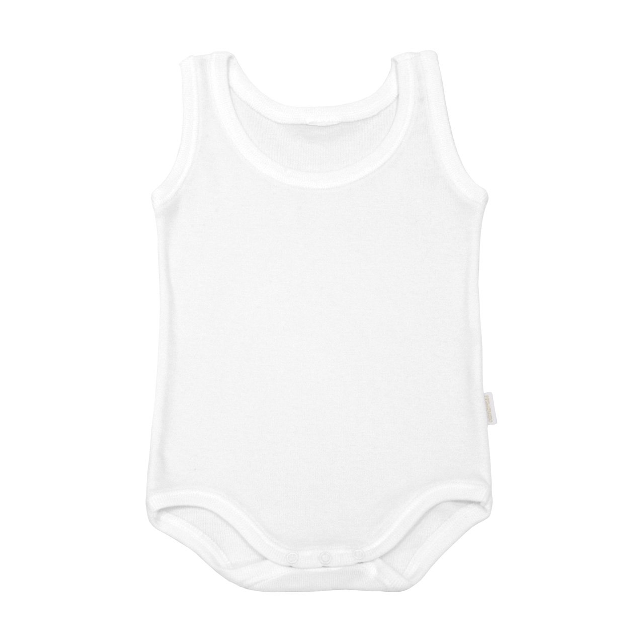 White, 12-18 Months Cambrass Sleeveless Tricot Bodysuit