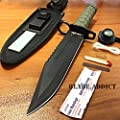 "12"" Tactical Hunting Army Rambo Fixed Blade Knife Machete Bowie w/ Survival Kit"