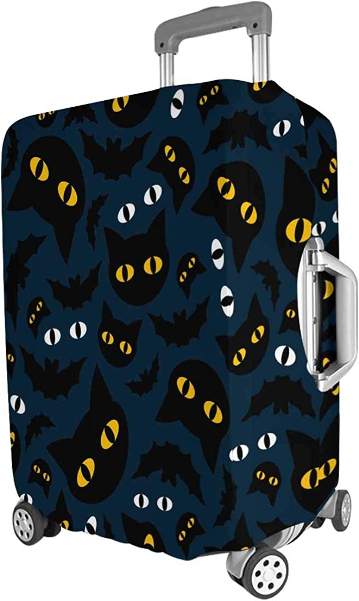 INTERESTPRINT Travel Luggage Protector Suitcase Covers Fit 18-28 Inch Cats and Bats in The Night