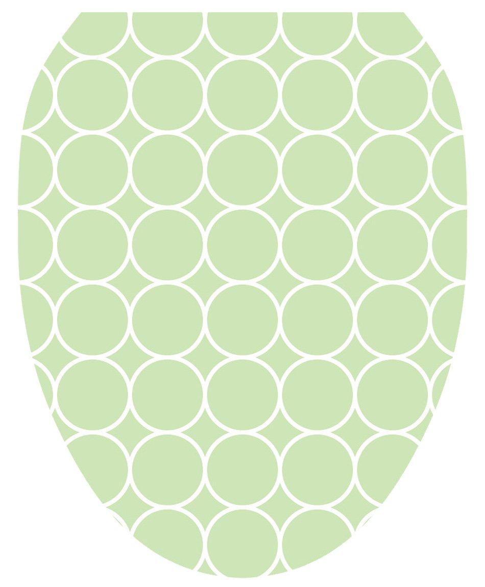 Toilet Tattoos TT-5001-O Green Bubbles Decorative Applique for Toilet Lid, Elongated