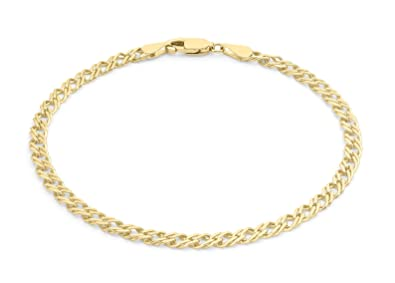 Carissima Gold 9ct Yellow Gold Twist Curb Bracelet of 18cm/7 BwjecwyiD