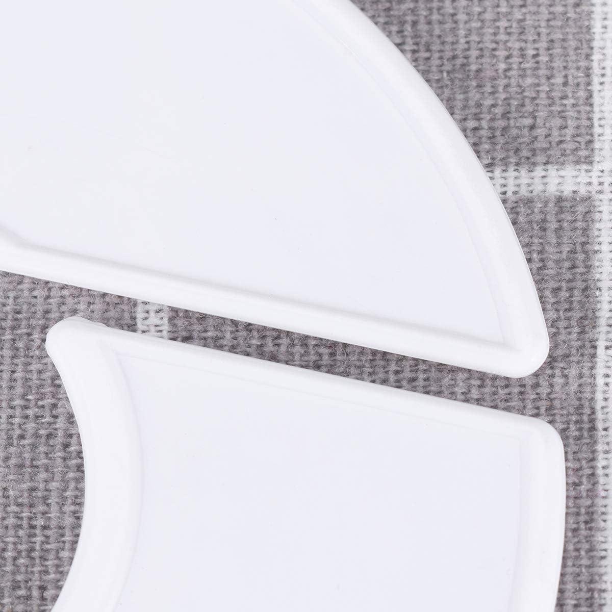 VOSAREA 10pcs Clothing Size Divider Plastic Round Hangers Dividers Blank DIY Closet Wardrobe Rack Size Dividers White