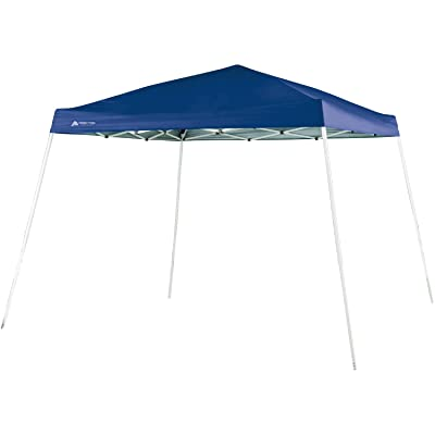 Ozark Trail 10 FT X 10 FT Slant Leg Instant Setup Canopy / Gazebo Shelter / Easy Pop Up Tent Backyard Outdoor Portable Deck Or Patio Canopy With Durable Steel Frame, Blue Color (3.05 Meters X 3.05 Meters), 64 Square Feet Shad