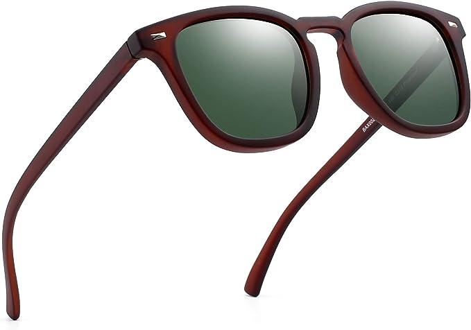 Jim Halo Gafas de Sol Polarizadas de Espejo Retro Clásico Cuadrado Conducir Anteojos Hombre Mujer