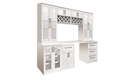 New Age Products Home Bar Wine Cabinet System (8 Piece Set)