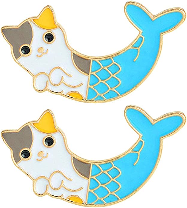 Kissitty 5pcs Alloy Enamel Cartoon Lapel Brooch Pin Set Patch Backpack Pins for Jean Bag Clothes Decoration 14-28x17.5-32.5mm 0.55-1.1x0.69-1.28inch