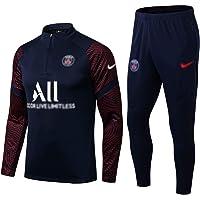 Weqenqing Paris Sportkleding Met Lange Mouwen, Trainingspak Voetbal, Pullover Met Halve Rits, Ademend Sport Trainingspak…