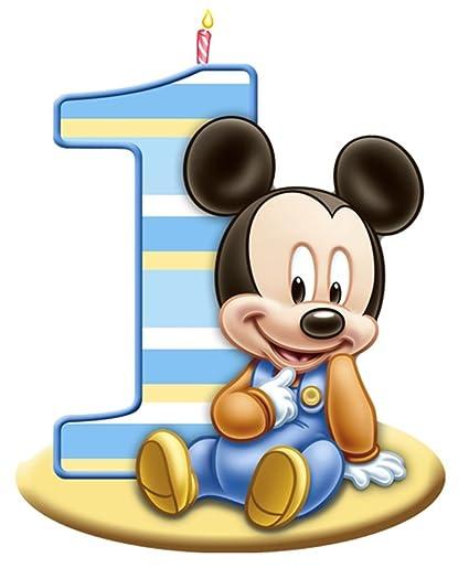 Amazon Mickey Mouse 1st Birthday Edible Image Photo Cake Topper