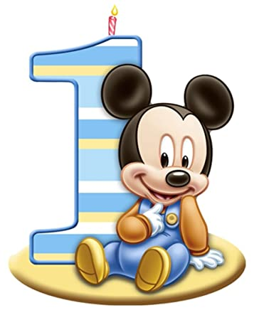 Amazoncom Mickey Mouse 1st Birthday Edible Image Photo Cake Topper