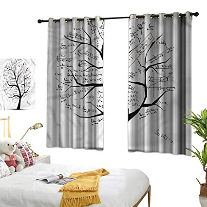 Amazon.com: Navy Blue Curtains Mathematics Classroom,Tree ...