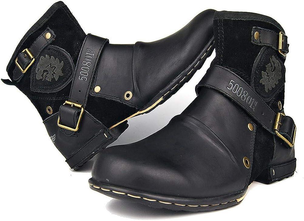 Herren Martin Stiefel Vollrindleder High Top Stiefeletten Baumwolle gepolsterte Lederschuhe Retro Tooling Stiefel für Vier Jahreszeiten Schwarz