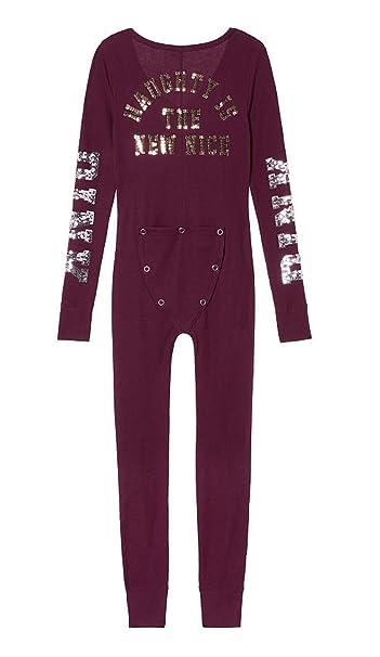 Victorias Secret Pink Onesie Pajamas Amazonca Clothing Accessories
