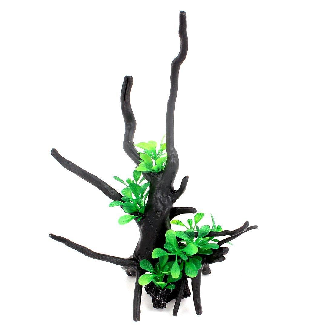 1Pc Silicone Aquarium Emulational Artificial Plant Coral Ornament 9cm Height Green