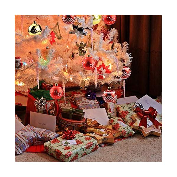 Jinlaili 6CM Palle di Natale Ornamenti, 12PCS Pallina Verniciata Palline di Natale Decorazione per Albero di Natale, Albero di Natale Palla Decorazioni per Alberi di Natale Addobbi Palle (Oro Rosso) 5 spesavip