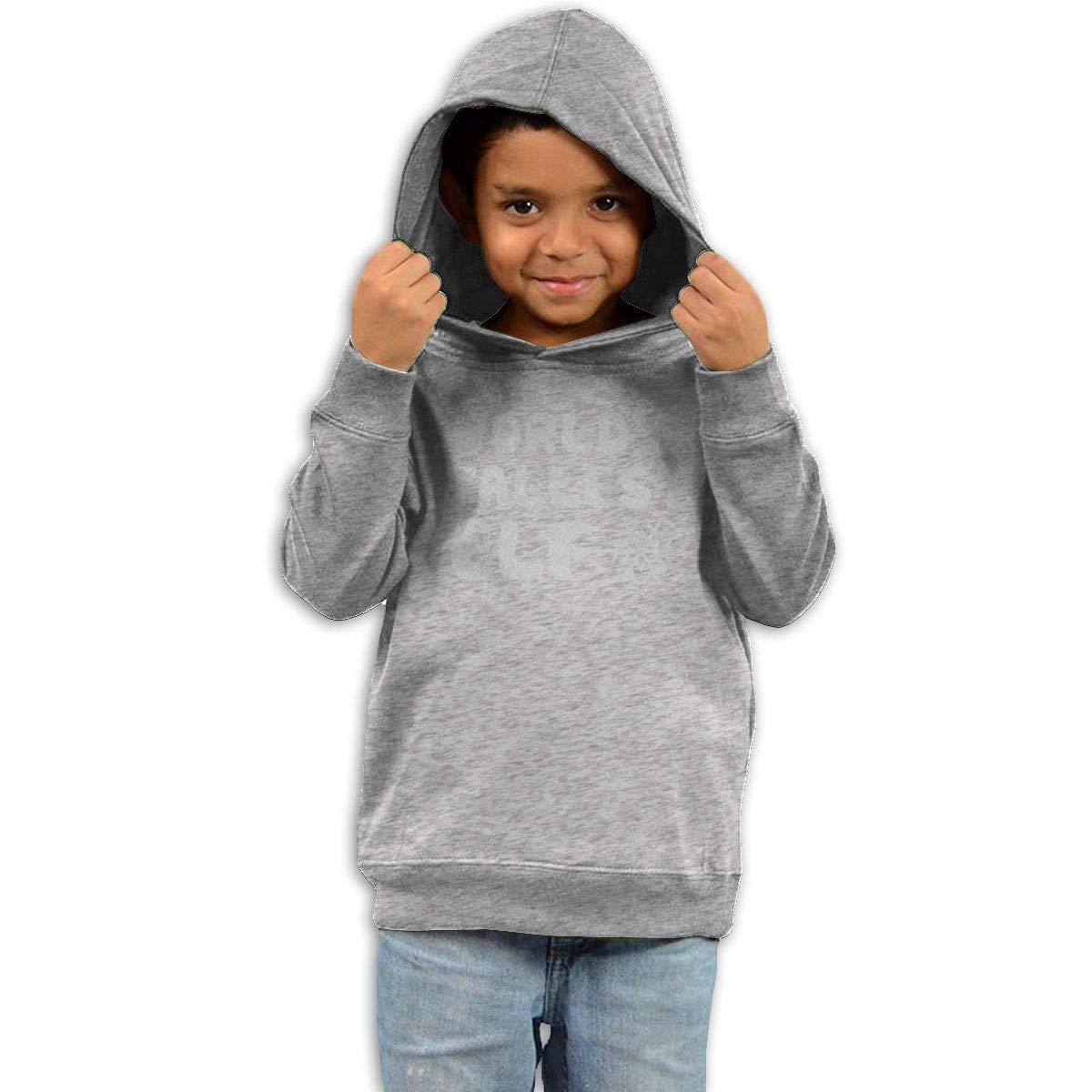 GUOZX Childrens Hooded Sweater Worlds Tallest Elf Children Sweater Black
