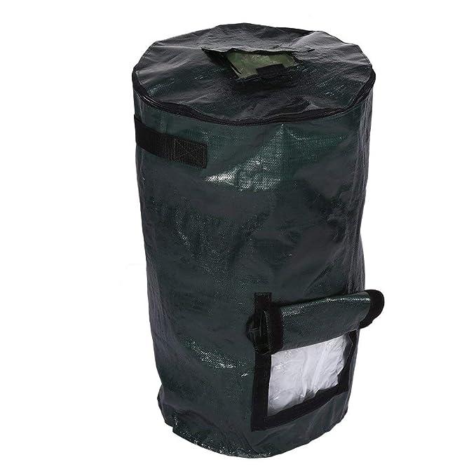 Bolsa de plantador de jardín, fermentación de residuos orgánicos Bolsa de compostaje de Tela PE Ambiental para jardín de Cocina de Fruta(01)