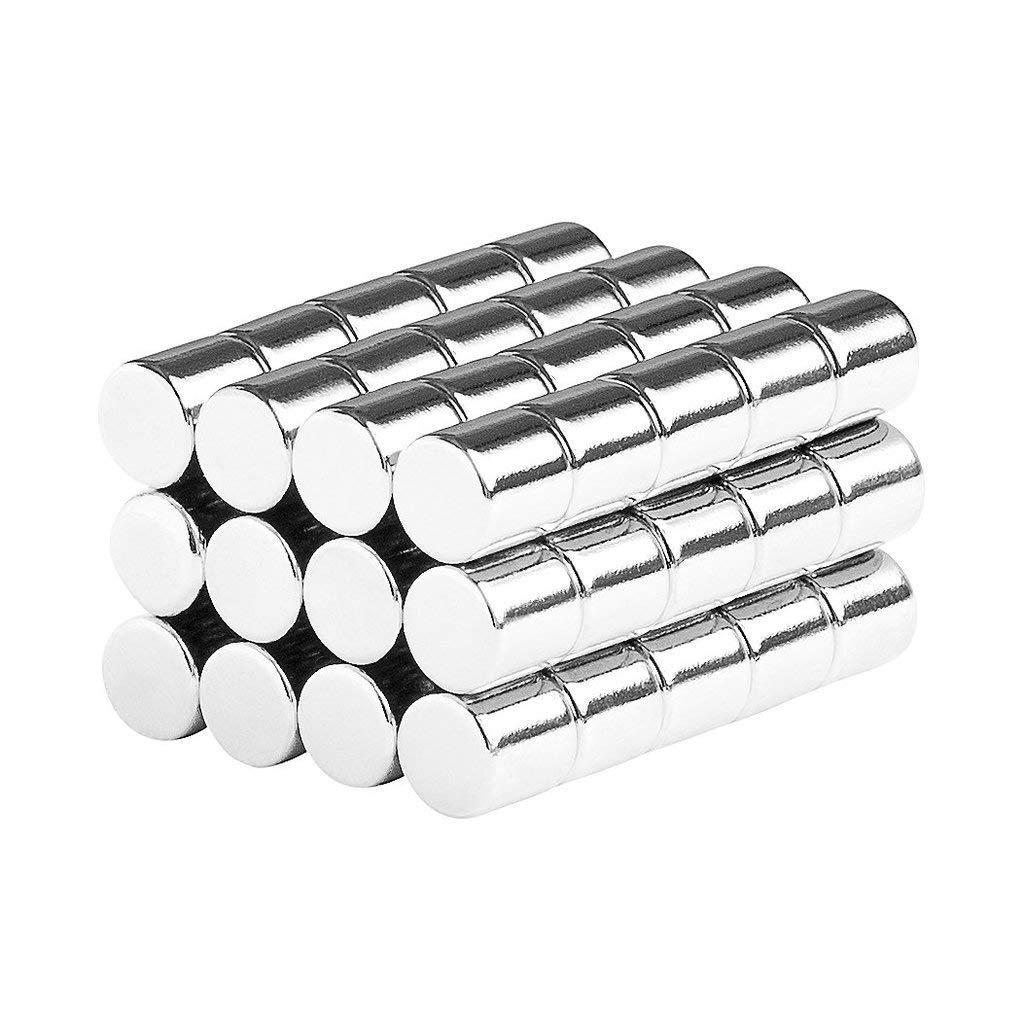 aElement Multi-Use Magnetic Holder Lifter Fastener Stick Wargame Miniatures 3/16'' 5mm Round Cylinder Magnets (60 Pack)