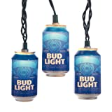 Kurt Adler 10-Light Bud Light Beer Can Light Set
