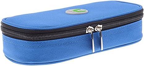 LOKEP - Estuche médico refrigerador portátil para insulina con 2 bloques de hielo, Azul: Amazon.es: Deportes y aire libre