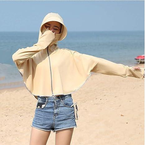 S-Chihir Ropa de protección Solar Protector Solar Camisa de Manga Larga, protección Solar Ropa del