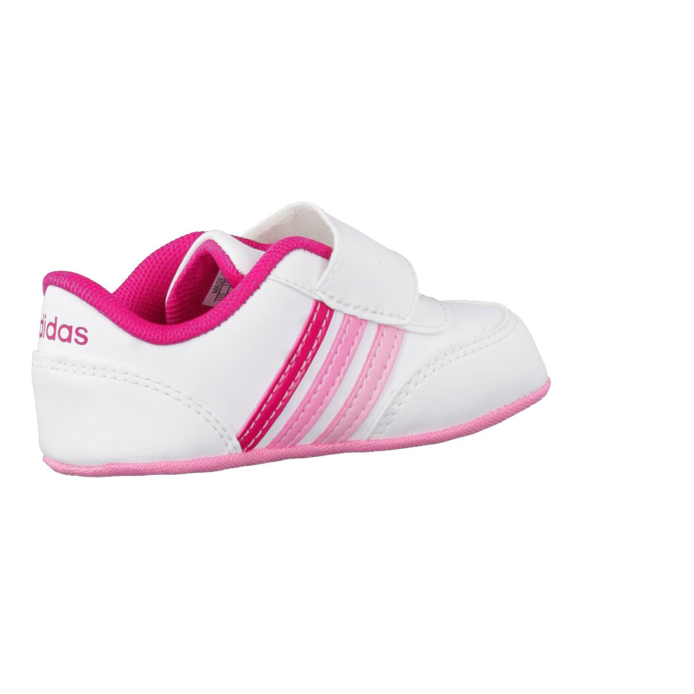 adidas V JOG CRIB - Zapatillas deportivaspara niños, Blanco - (FTWBLA/ROSFUE/ROSSEN), 17