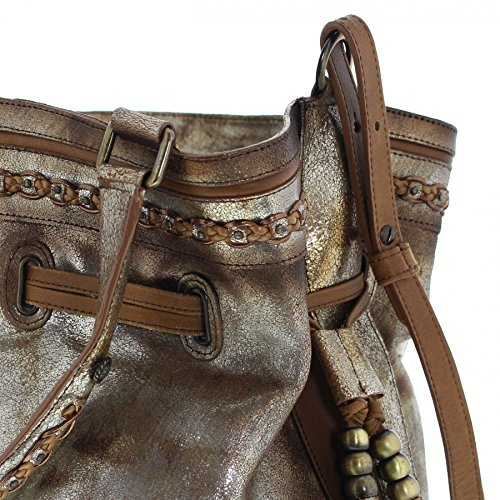 Corral Boots, Borsa a tracolla donna beige gold One size