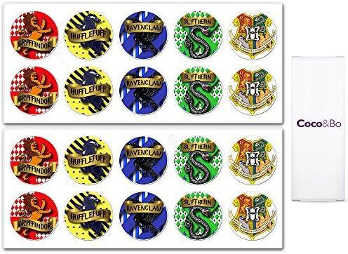 Coco Bo 10 X Hogwarts Schulhaus Party Aufkleber Harry Potter Thema Dekoration House Party Stickers Küche Haushalt