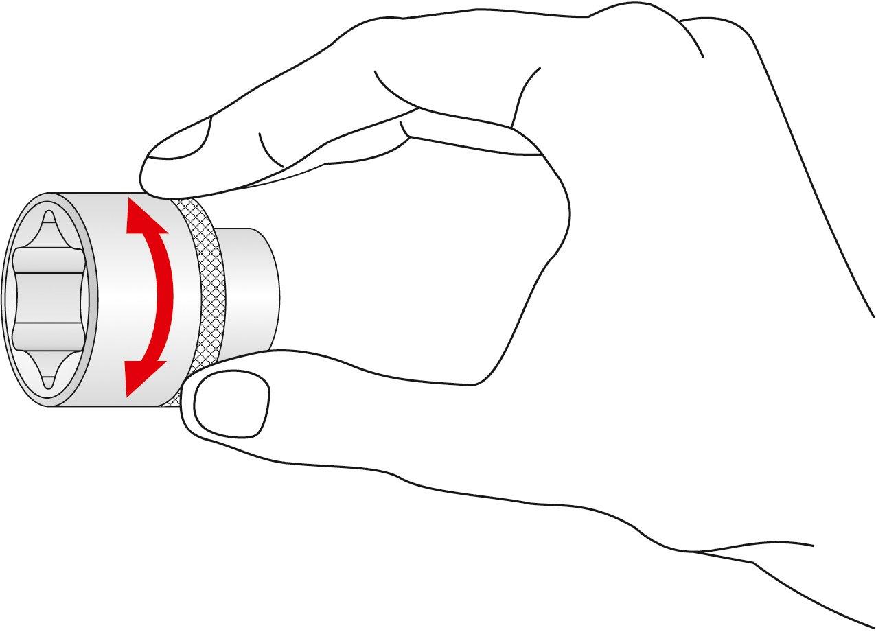 MATADOR 4075 0250 Llave de vaso m/étrica 25mm
