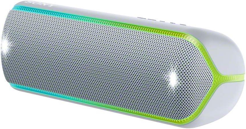 Sony SRS-XB32 - Altavoz inalámbrico portátil (Bluetooth, Extra Bass, diseño portátil, batería hasta 12h, sonido Live Sound, Party Booster, luces, resistente al agua y polvo IP67), Gris