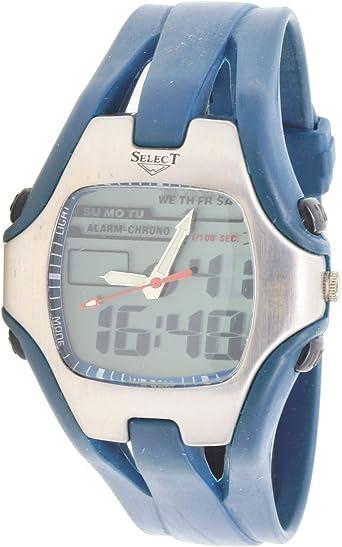 Select Sl98636 Reloj Analogico/Digital para Hombre Caja De Resina Esfera Color Gris: Amazon.es: Relojes