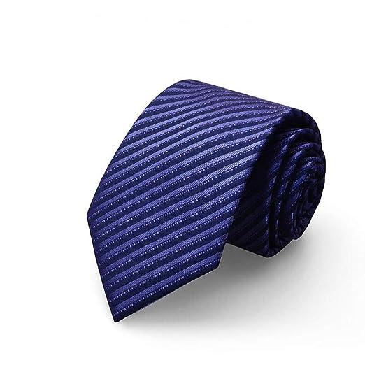 Corbata Hombre/Traje de Negocios/Boda Novio / 8cm / Azul y ...