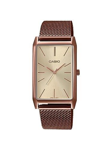 Casio Reloj Analógico para Mujer de Cuarzo con Correa en Acero Inoxidable LTP-E156MR-9AEF: Amazon.es: Relojes
