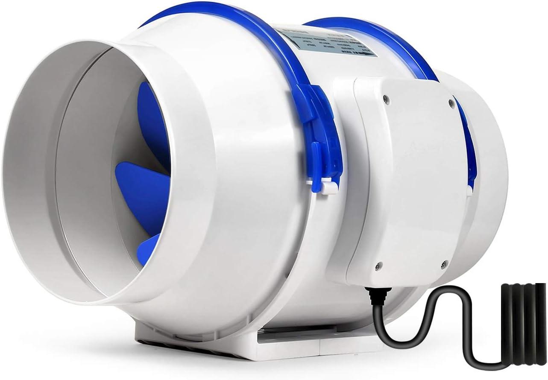 Hon&Guan Ventilador Extractor de Conducto en Línea para Baño, Invernaderos, Hidropónicos (ø150mm)
