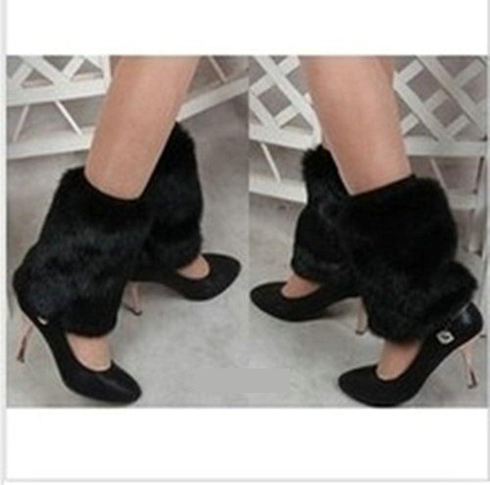 Ouvin 1 Pair Winter Faux Fur Leg Warmer Boot Cuff Cover