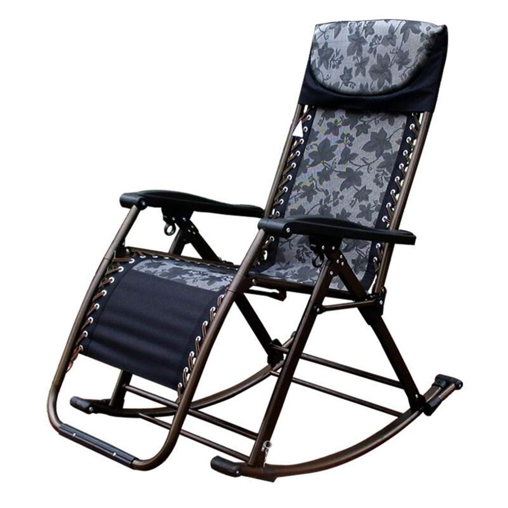 LLRDIAN Schaukelstuhl Liegestuhl, Balkon-Sessel für Erwachsene Mittagspause, Klappstuhl für Schwangere Frau