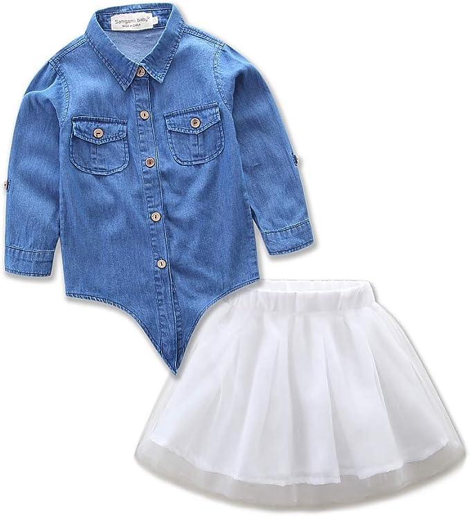 Borlai Family - Vestido de Moda para mamá, Hija, Vaquero, Falda de ...