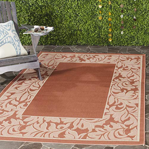 Safavieh Courtyard Collection CY2666-3202 Terracotta and Natural Indoor/ Outdoor Area Rug (6'7