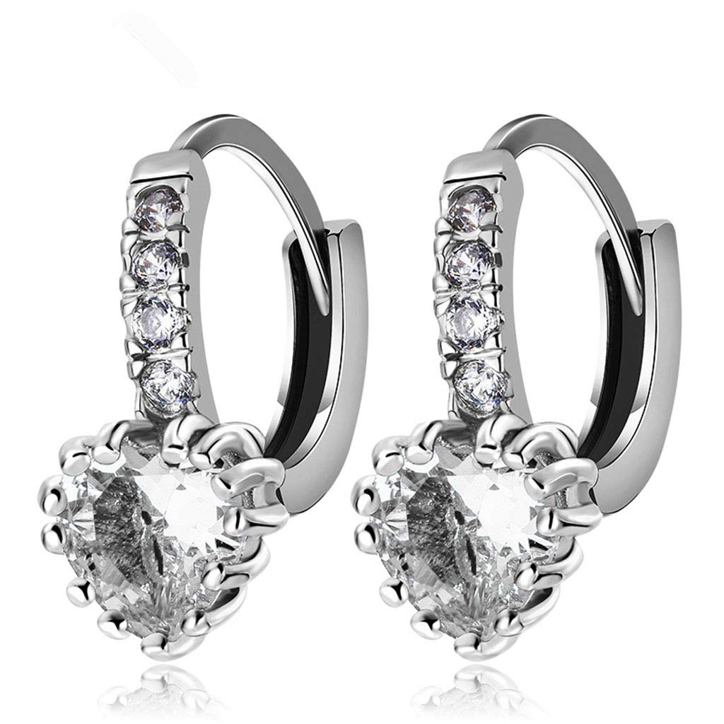 Fashion Women/'s Girls Big Earrings Stud Party Daily Wedding Pearls White Gold