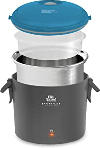 Maxi-Matic EFW-6080T Warmables Lunch Box Electric Food Warmer with Stainless Steel Pot, 32 oz, Teal