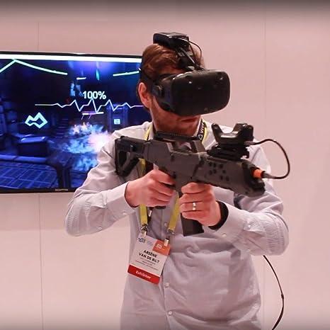 VR Pistola Controlador Rastreador con HTC VIVE,Realidad Virtual VR Rifle del Juego Bluetooth 4.0 Disparo con Vibración del Motor: PC: Amazon.es: Videojuegos