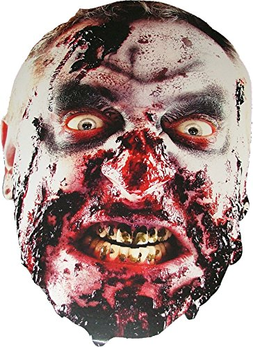 Zombie Clown Costume Uk (Halloween Zombie - Scary Card Face Mask)