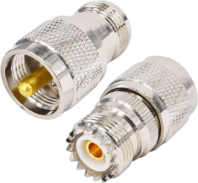 yilian Duo HF coaxial adaptador conector kit de N Hembra y macho a UHF PL 259 So de 239 M/F recto adaptador