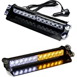 SMALLFATW 12 LED 9 Flash Patterns High Intensity Emergency Law Enforcement Vehicles Truck Warning Strobe Visor Light…