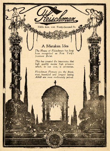 1920 Ad Fleischman Roses Flowers Florist Beauty Gift - Original Print Ad (Florist Rose Vintage)