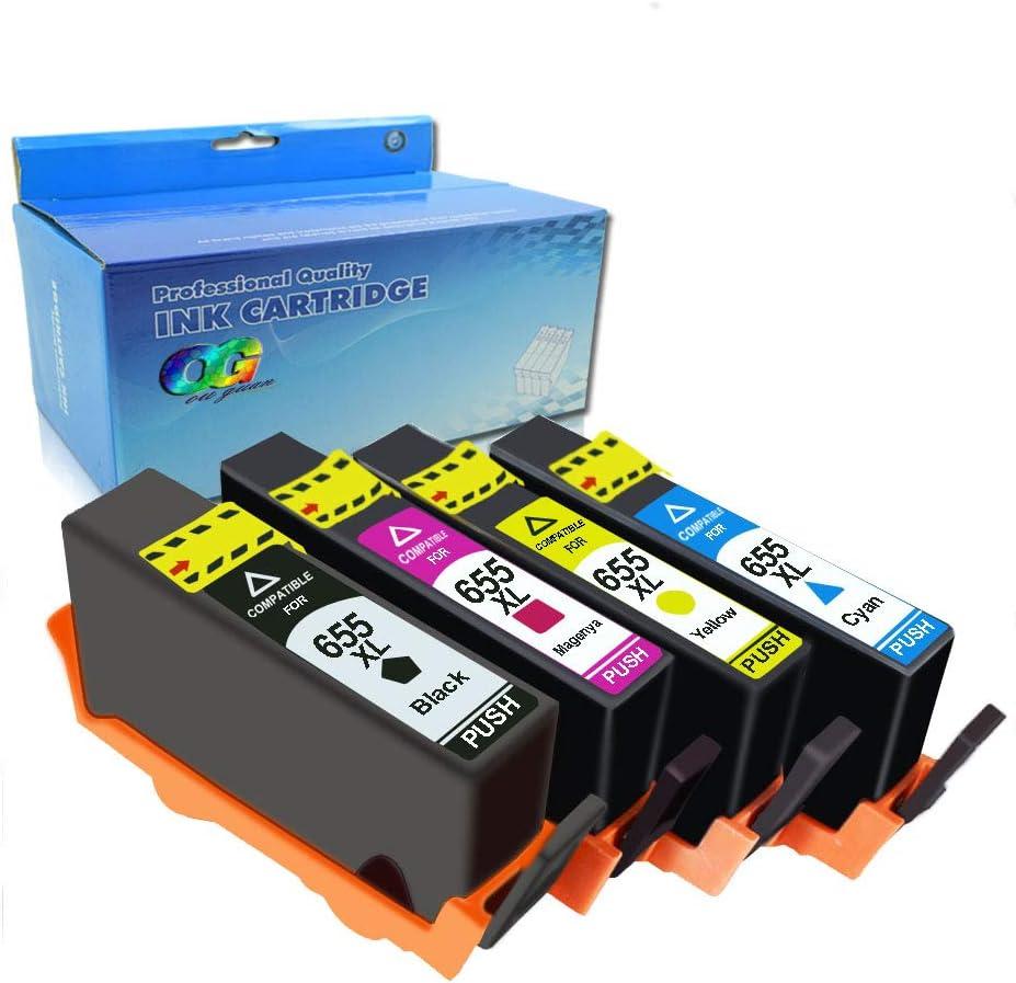 Ink Choice Compatible Ink Cartridge For HP 655 BK C M Y 4 Pcs for HP Deskjet Ink Advantage 3525/4615/4625/5525/6525 Inkjet Printer part