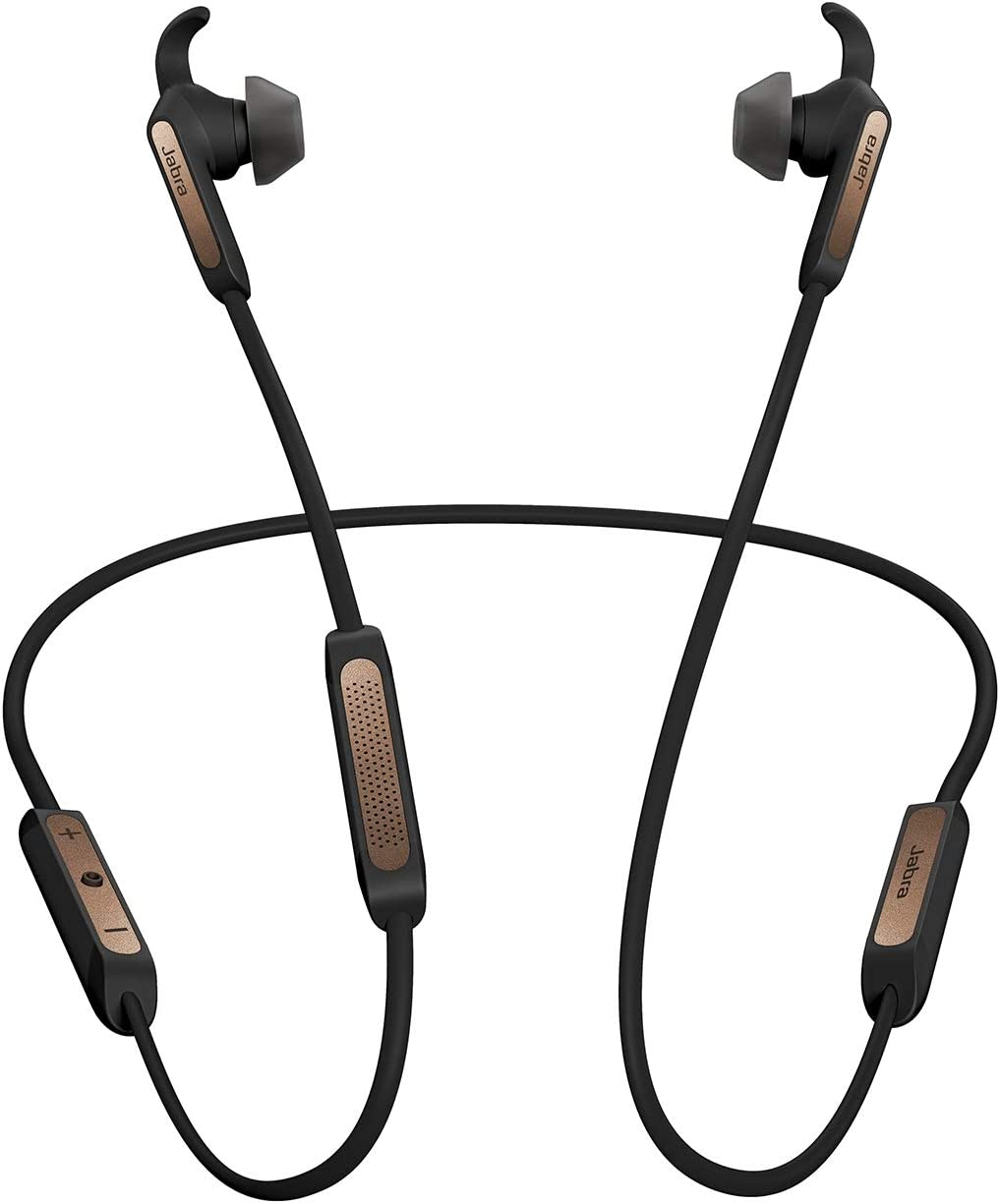 Jabra Elite 45e Rain resistant Bluetooth Earbuds for Wireless Calls and Music Copper Black