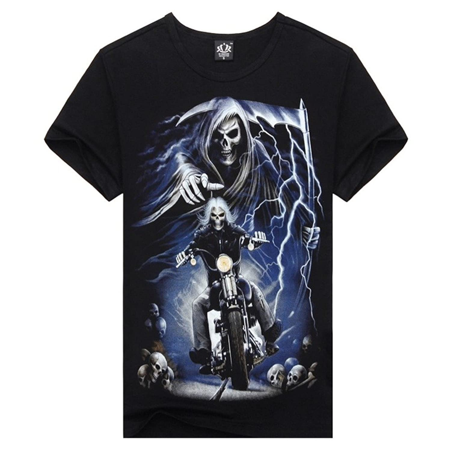 M-Empire Ghost Rider Skeleton T Shirt For Guys Cool New Style Casual Tee
