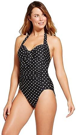 fbdfe3b093 Merona Women's Halter One Piece Swimsuit at Amazon Women's Clothing store: