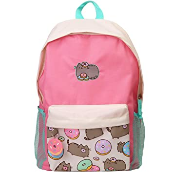 Pusheen Cat Donuts Zipper Backpack with Front