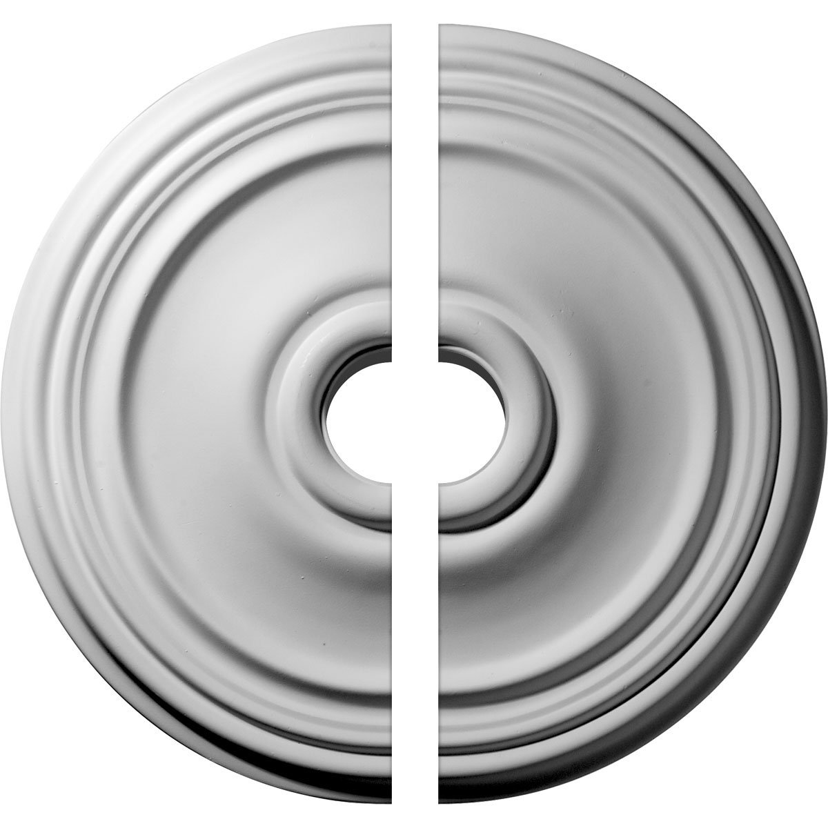 Ekena Millwork CM21RE2-03500 21''OD x 3 1/2''ID x 1 1/4''P Reece Ceiling Medallion, Two Piece (Fits Canopies up to 6 3/4''), Factory Primed by Ekena Millwork